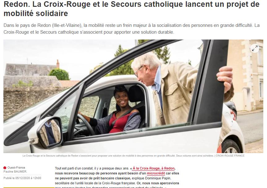 Redon. Ouest-France informe sur le projet de Mobilité Solidaire